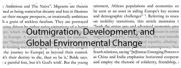 Outmigration, Development, and Global Environmental Change