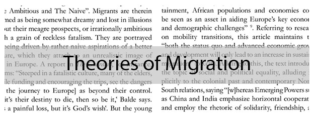 Theories of Migration in and from Rural Sub-Saharan Africa